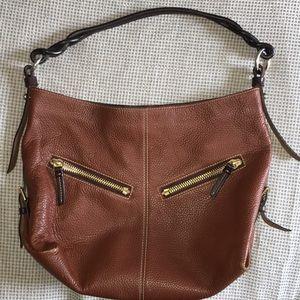 Dooney & Bourke Brown pebbled leather bag